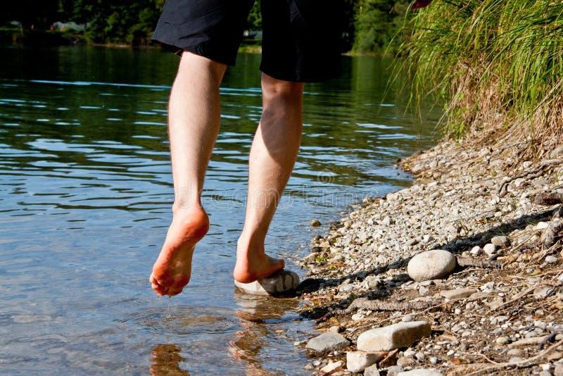 Com os pés descalços imagem de stock royalty free
