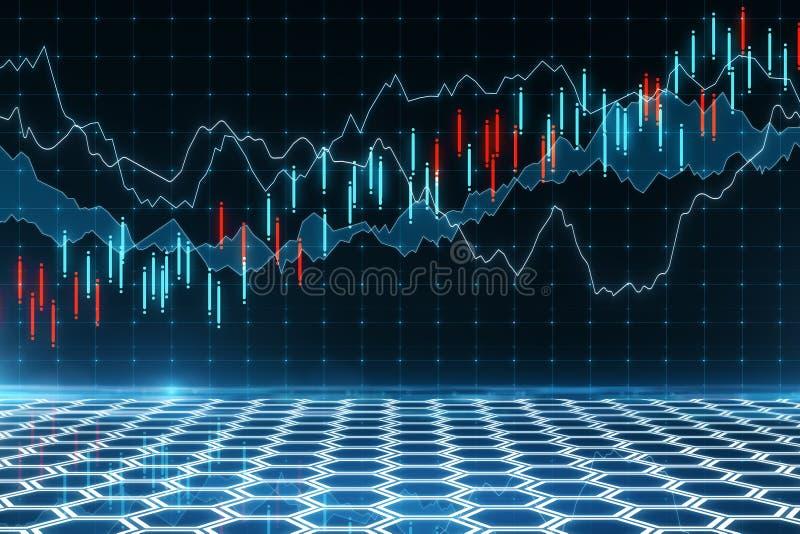 Com?rcio e para investir o conceito ilustração stock