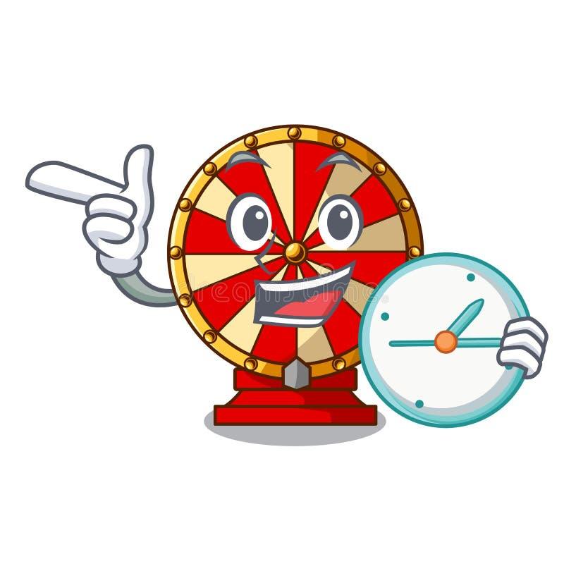 Com a roda de gerencio do pulso de disparo o brinquedo isolou o caráter ilustração stock