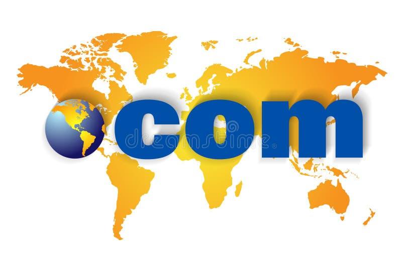 com sieć szeroki światowy Www royalty ilustracja