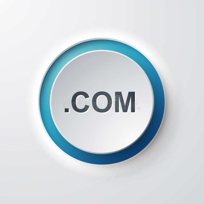 com sieci ikony pchnięcia guzik royalty ilustracja
