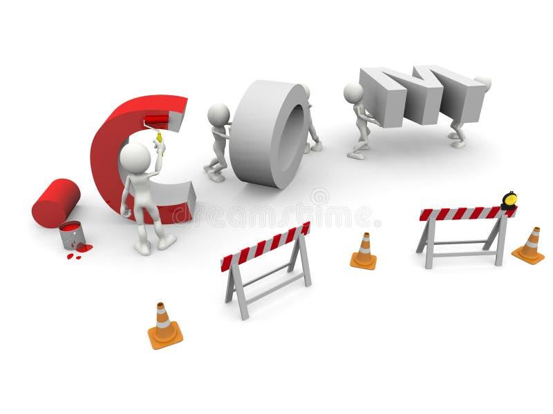 COM Under Construction. 3D image: COM Under Construction stock illustration