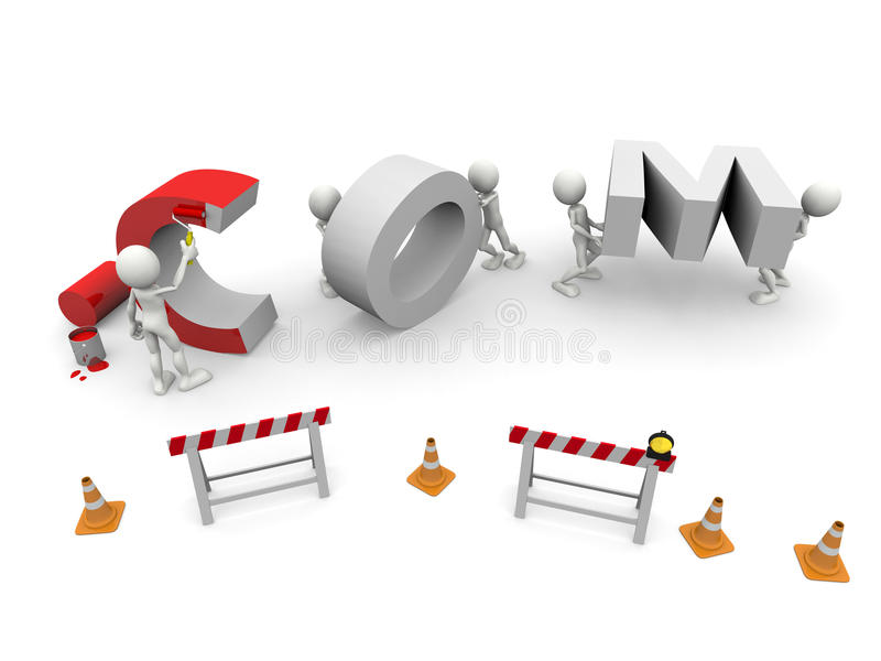 Download COM Under Construction stock illustration. Image of security - 12041163