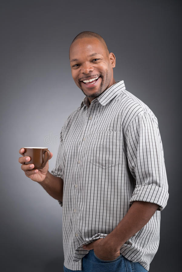 Com xícara de café fotografia de stock royalty free