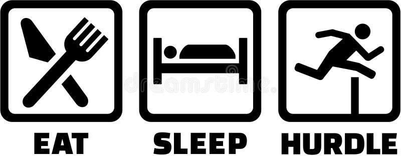 Coma a corrida dos obstáculos do sono ilustração stock