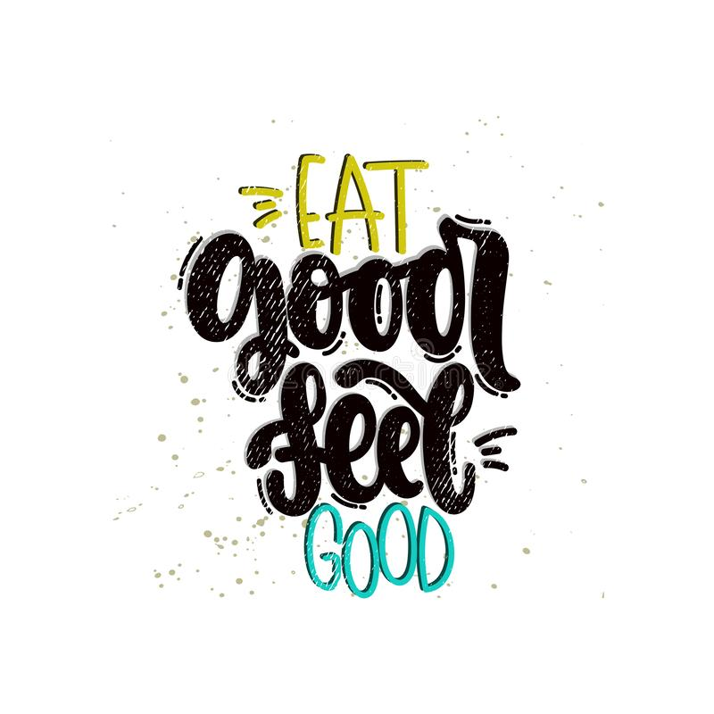 Coma el buen sentir bien stock de ilustración
