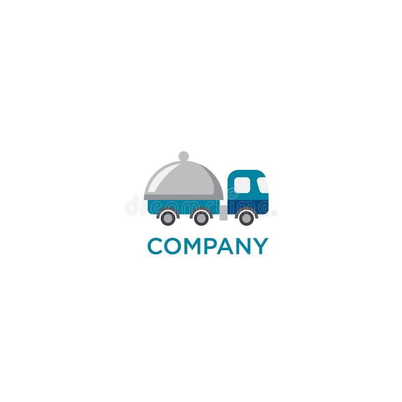 Coma, entrega do alimento ou logotipo do restoraunt ilustração do vetor