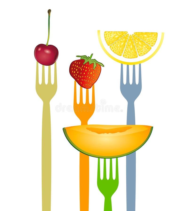 Coma a fruta ilustração stock