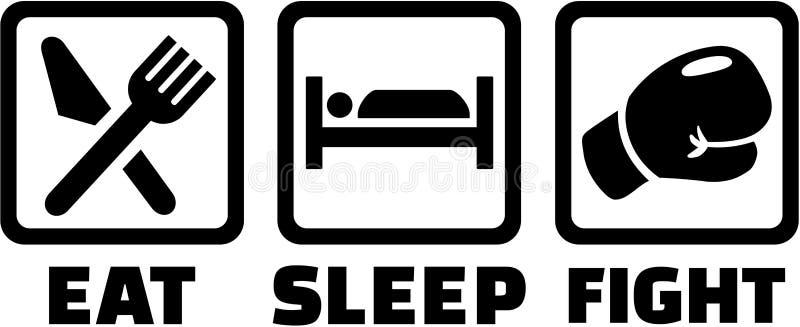 Coma a luta do sono - encaixotamento ilustração royalty free