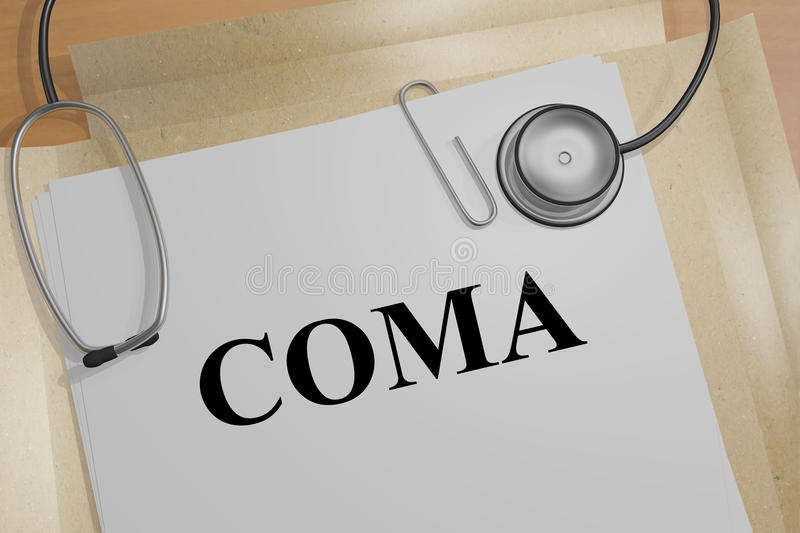 Coma - medical concept royalty free illustration