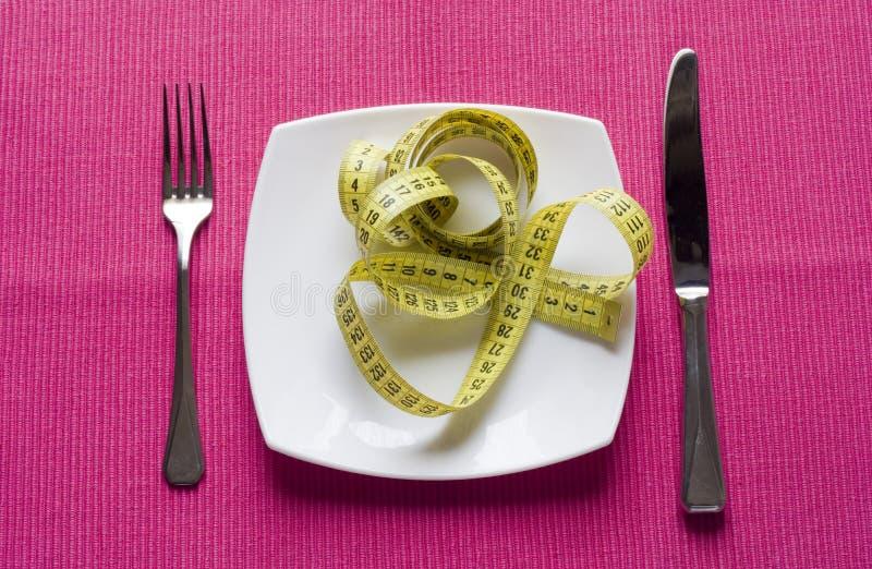 Coma o alimento healty imagens de stock