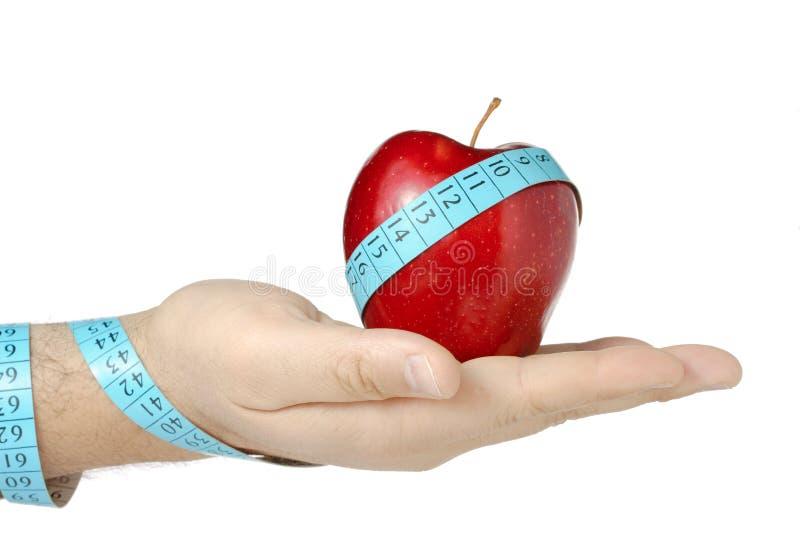 Coma o alimento saudável imagens de stock