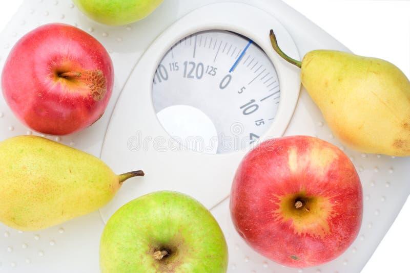 Coma o alimento saudável e o peso frouxo foto de stock