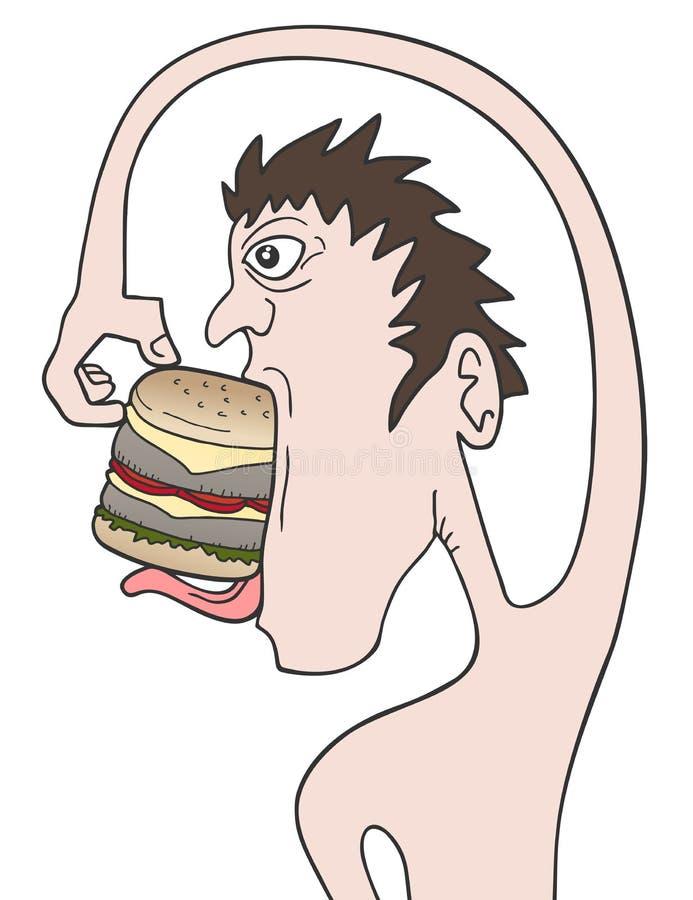 Coma o hamburguer ilustração do vetor