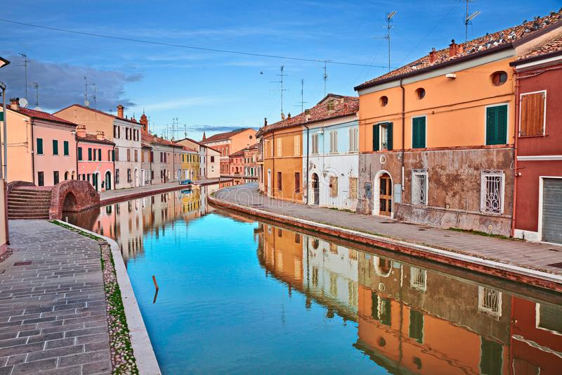 Comacchio, Αιμιλία-Ρωμανία, Ιταλία στοκ φωτογραφία