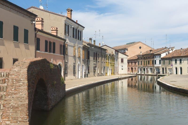 comacchio Италия стоковое изображение