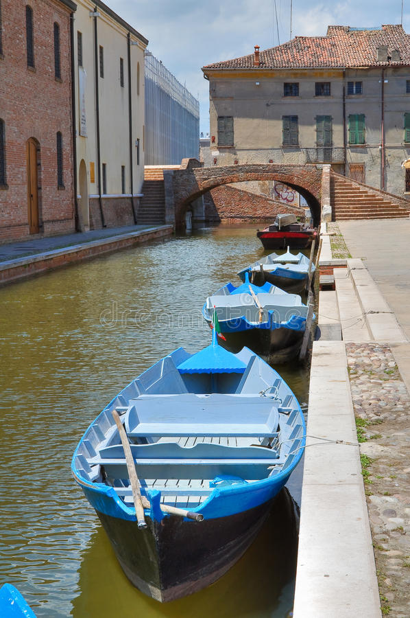 Download Comacchio. Emilia-Romagna. Italië. Stock Foto - Afbeelding bestaande uit buitenkant, stad: 29513478