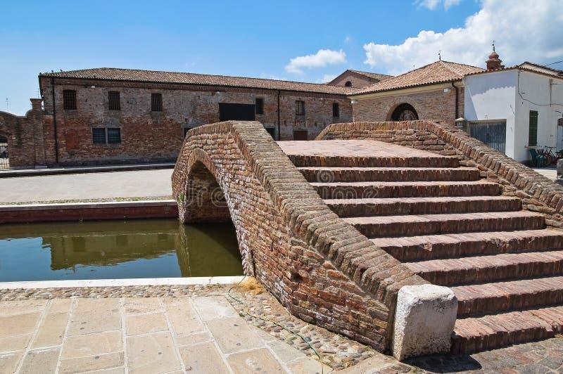Download Comacchio. Emilia-Romagna. Italië. Stock Foto - Afbeelding bestaande uit italië, architectuur: 29513502