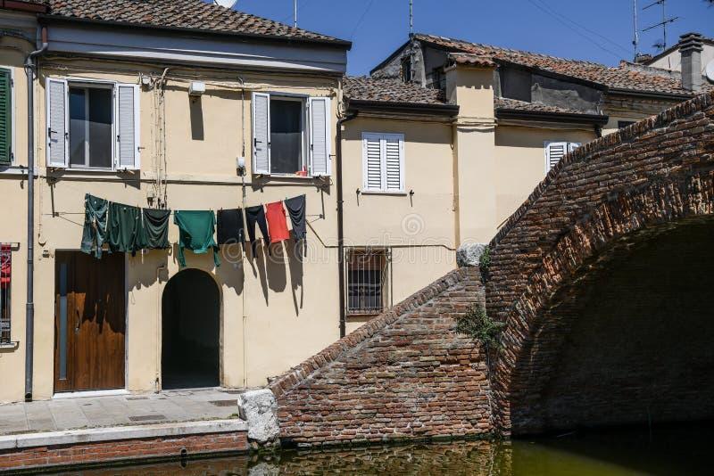 Comacchio, Emilia Romagna, Itali? stock afbeelding
