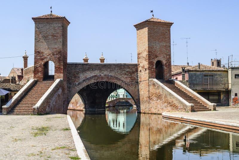 Download Comacchio - Famous bridge stock photo. Image of bridge - 28593632