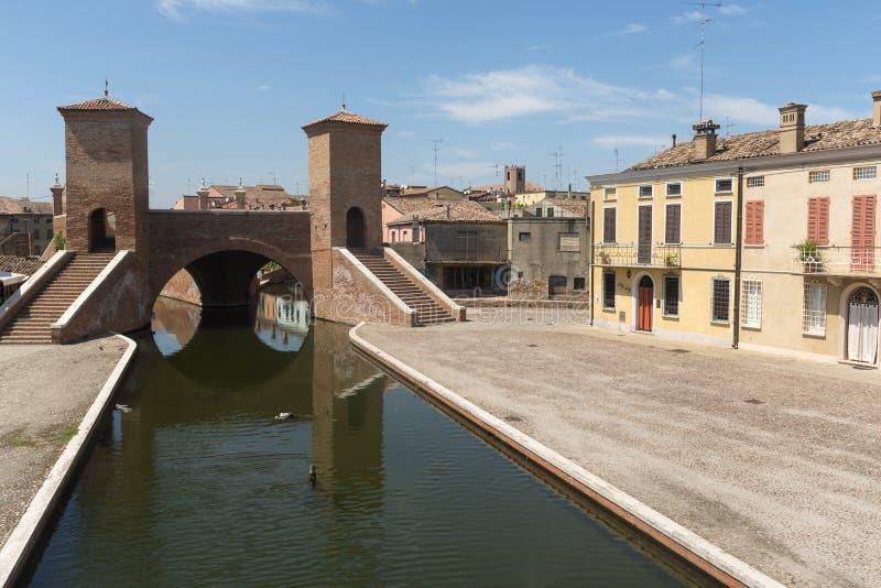 Comacchio (Italia) imágenes de archivo libres de regalías