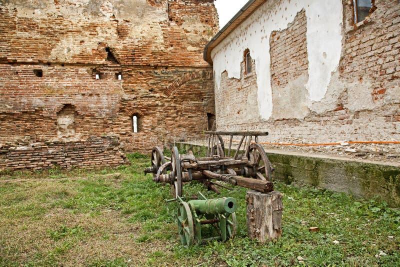 Comana church old wall ruins stock photos