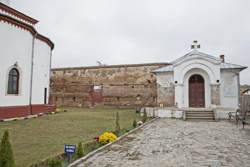 Comana church old wall ruins royalty free stock photography