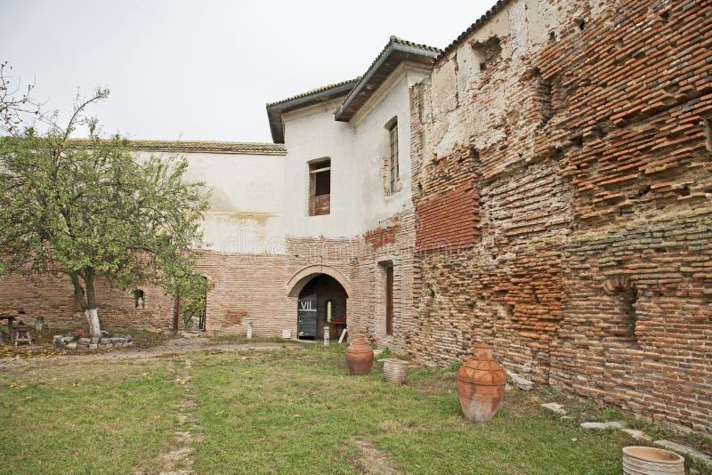 Comana church old wall ruins royalty free stock photo