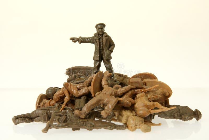 Comandante britannico del soldato di giocattolo fotografia stock