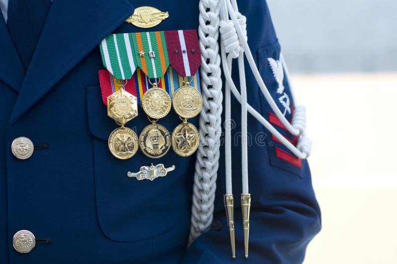 Comandante de compañía del guardacostas de los E.E.U.U. imagenes de archivo