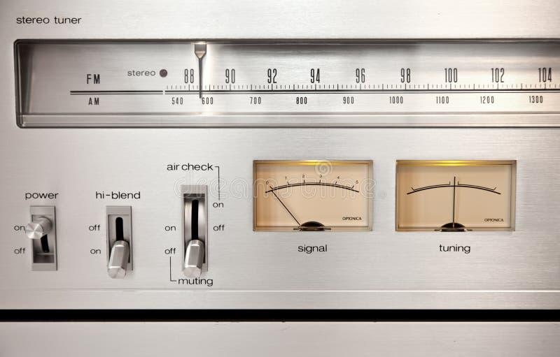 Comandi Analog della registrazione del suono fotografia stock