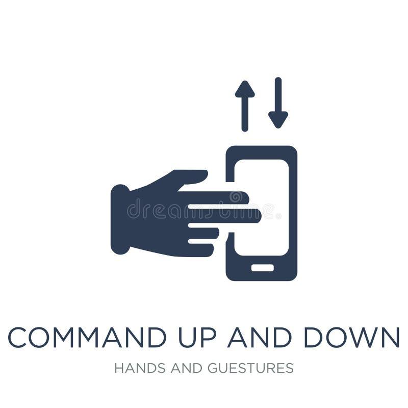 Comando arriba y abajo del icono del gesto Comando plano de moda del vector para arriba libre illustration