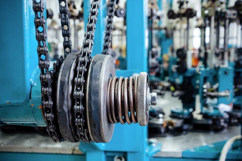 Comando a catena, organo di trasmissione della macchina dell'intrecciatura immagine stock libera da diritti