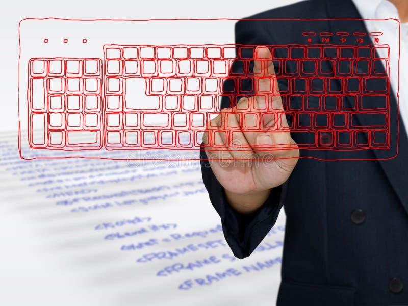 Comando del ordenador imágenes de archivo libres de regalías
