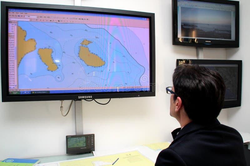 Comando geral do salvamento para a costela Concordia fotos de stock royalty free