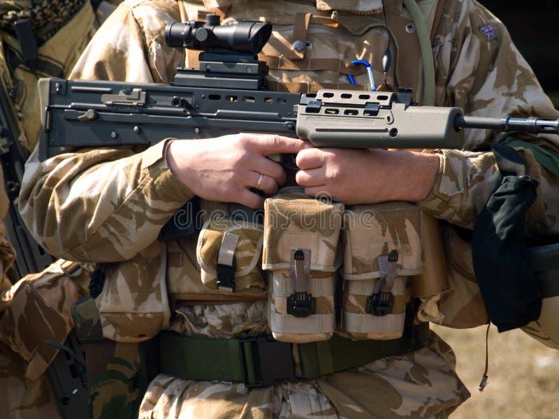 Comando real británico imagen de archivo