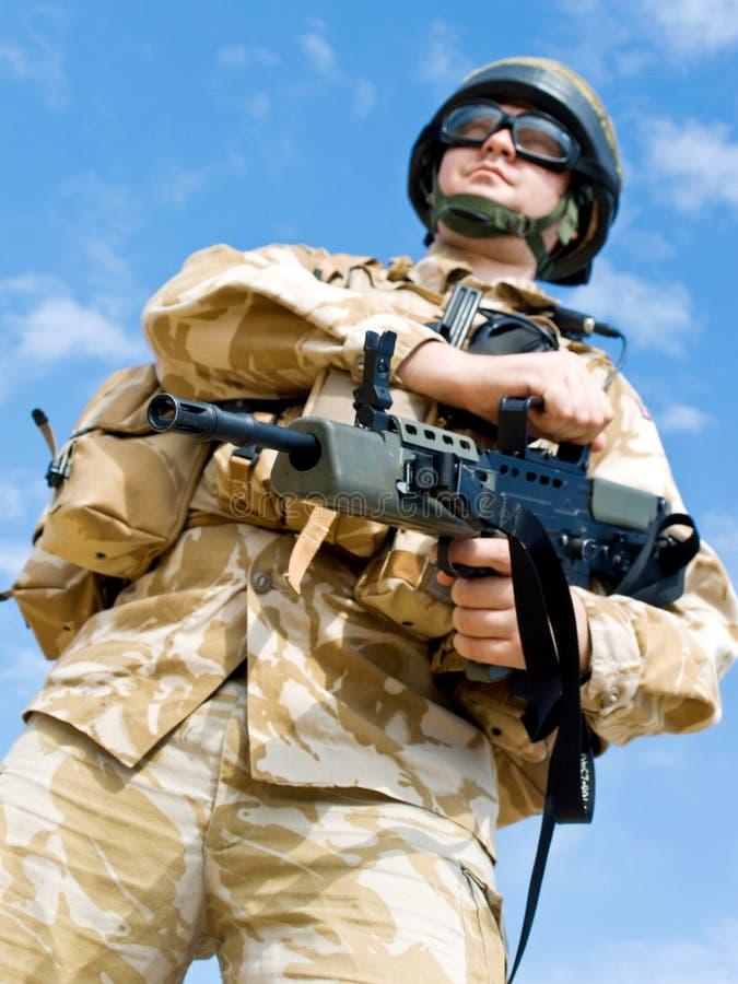 Comando real britânico imagens de stock royalty free