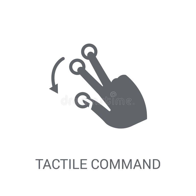 Comando táctil abajo del icono del gesto Comando táctil de moda abajo de g libre illustration