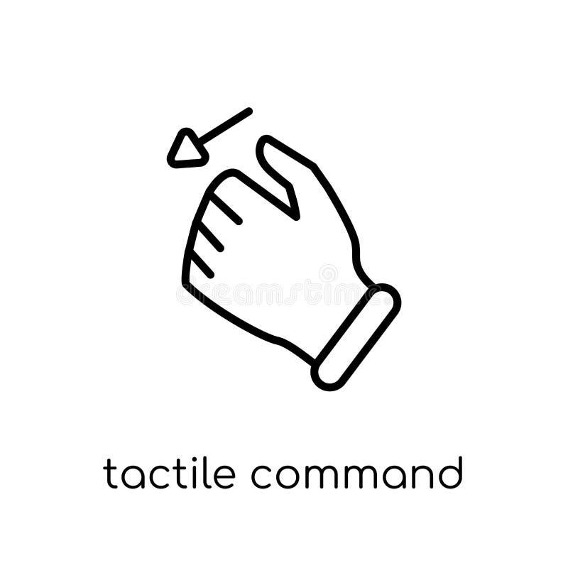 Comando táctil abajo del icono del gesto Vec linear plano moderno de moda stock de ilustración