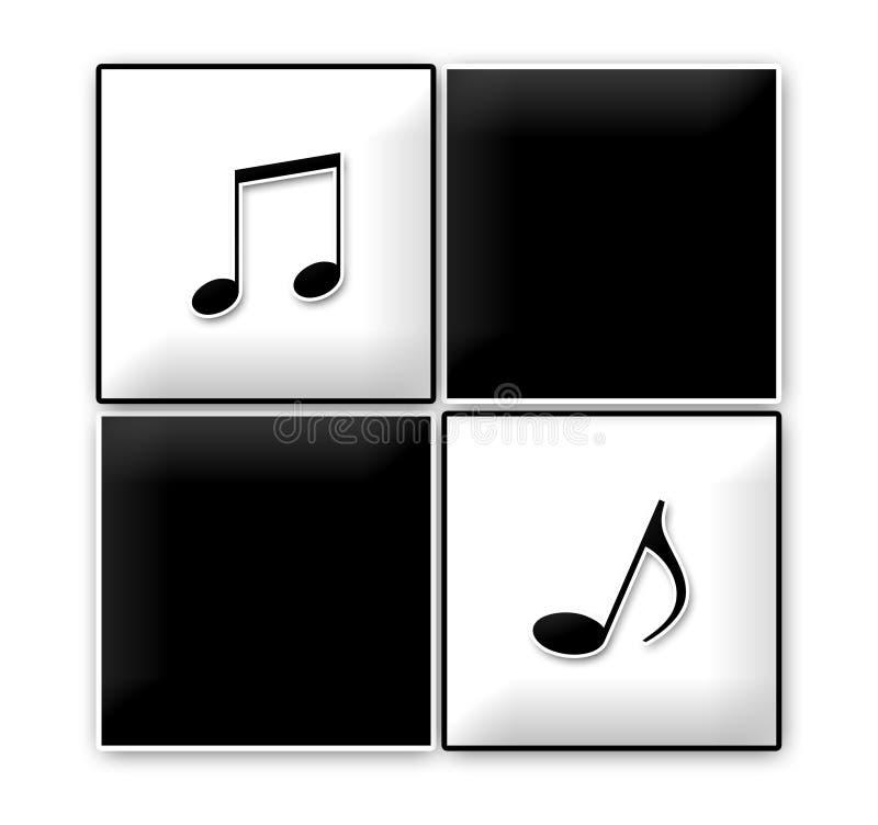 Comapny Logo - Ska Squares with Notes stock illustration