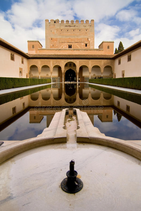Download Comares Tower stock image. Image of granada, reflections - 26019633