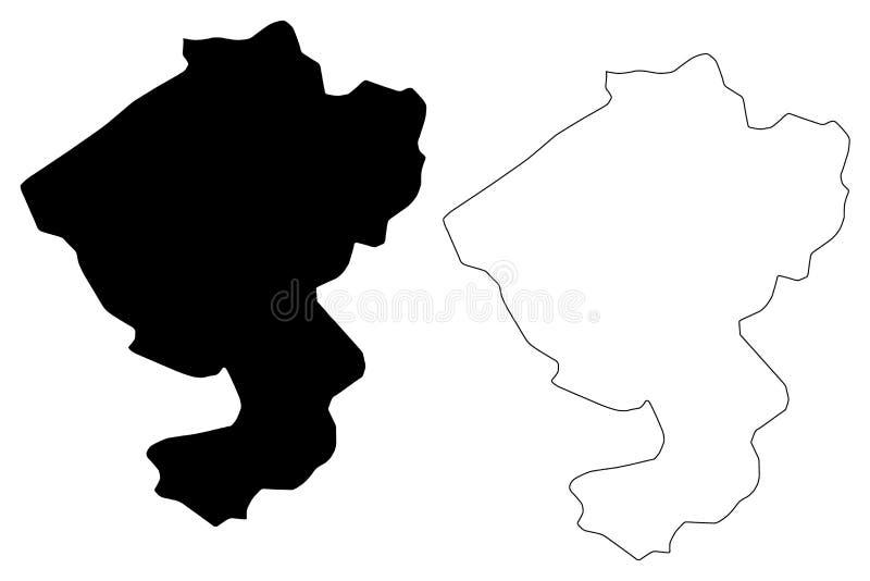 Comayagua Department Republic of Honduras, Departments of Honduras map vector illustration, scribble sketch Comayagua map.  stock illustration