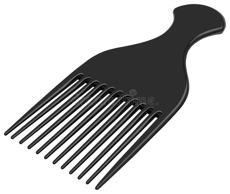 Download Comb stock vector. Image of plastic, pattern, trim, black - 13519051