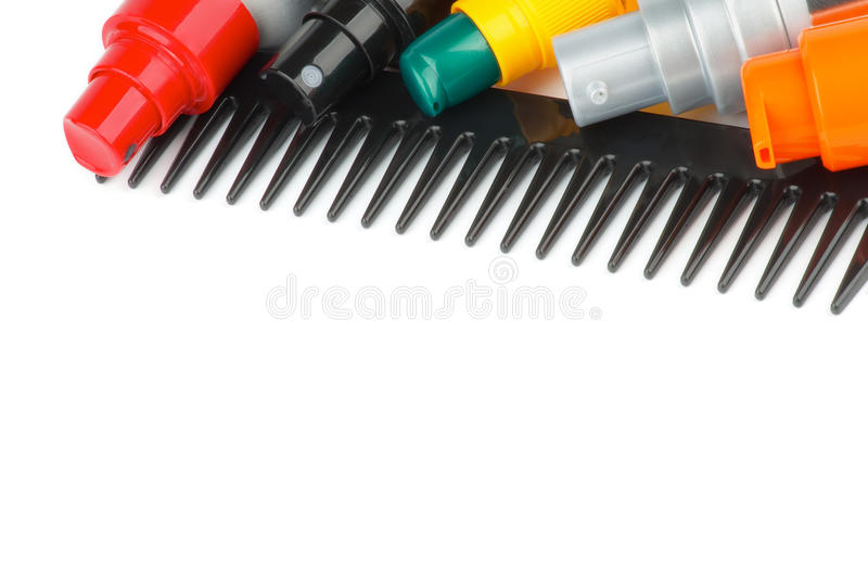 Comb and Hair Styling Products stock photography