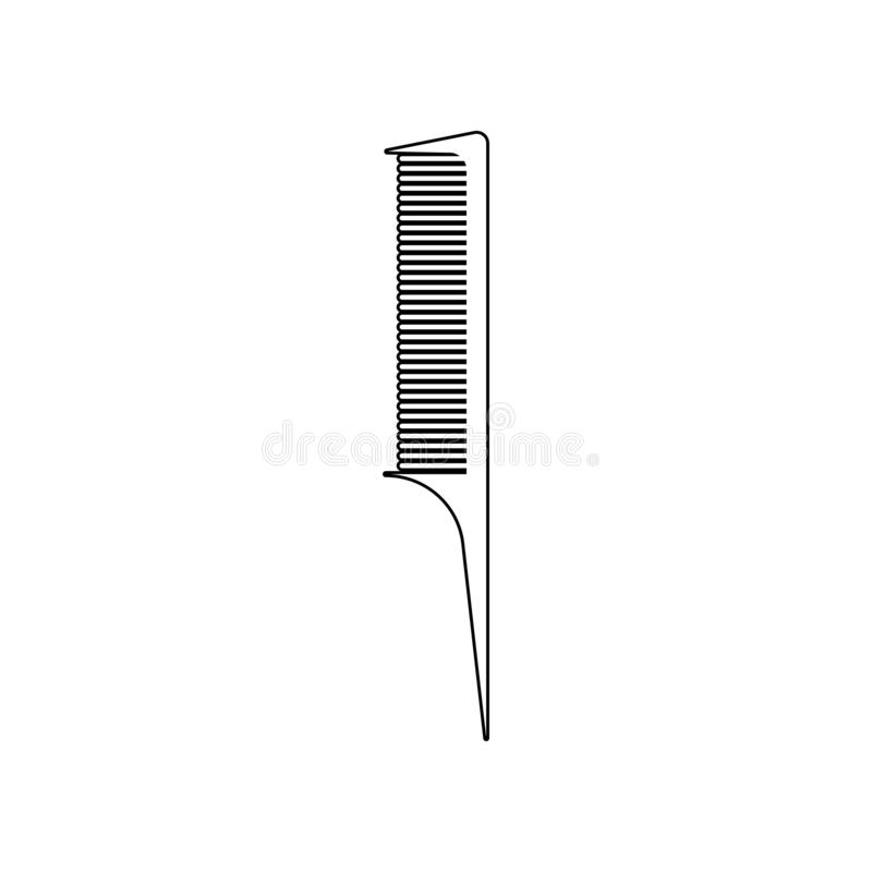 comb of a hairdresser icon. Element of Barber for mobile concept and web apps icon. Outline, thin line icon for website design and stock illustration