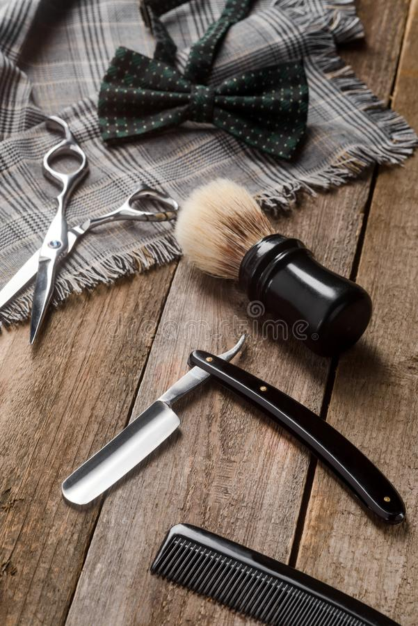 Comb and bow tie stock image