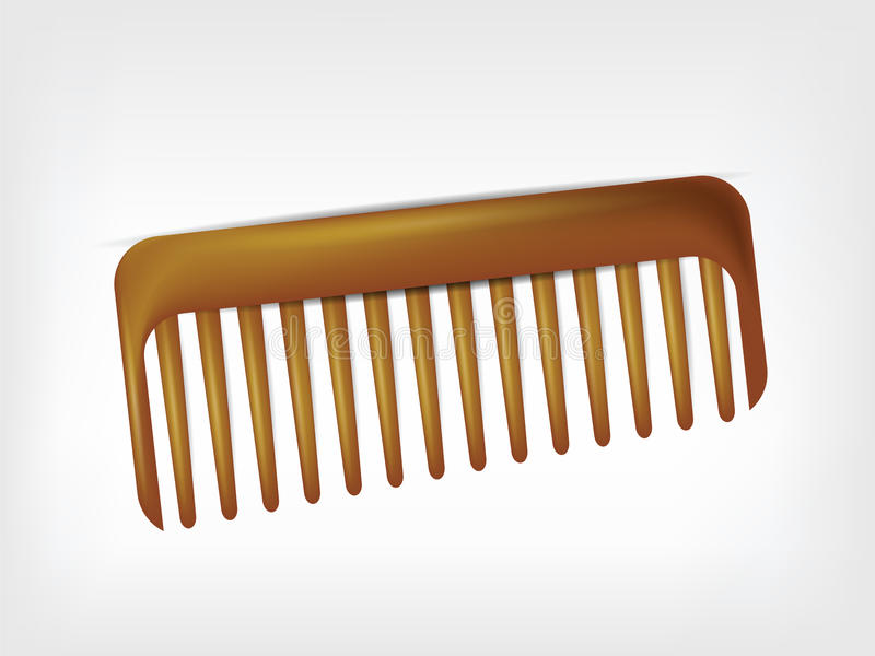 Comb  On White Stock Images