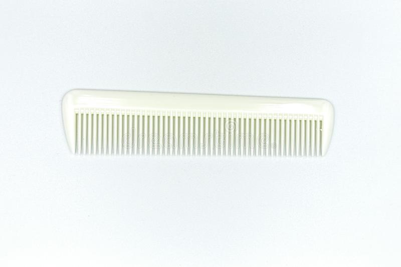 Comb. White comb isolated on white background vector illustration