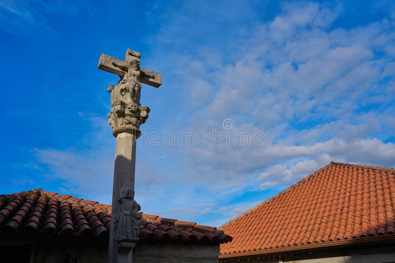 Combarro Cross village in Pontevedra Galicia Spain. Combarro cross Galician village in Pontevedra at Galicia Spain royalty free stock image