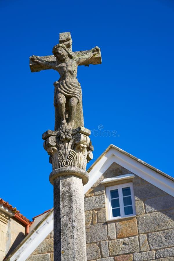 Combarro Cross village in Pontevedra Galicia Spain. Combarro cross Galician village in Pontevedra at Galicia Spain royalty free stock photo
